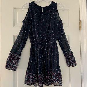 Girls Abercrombie Long Sleeve Ruffle Dress